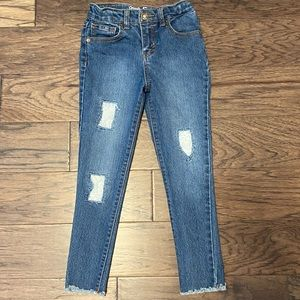 🎉HP🎉 Girl Size 6x Lace Distressed Patch Jeggings